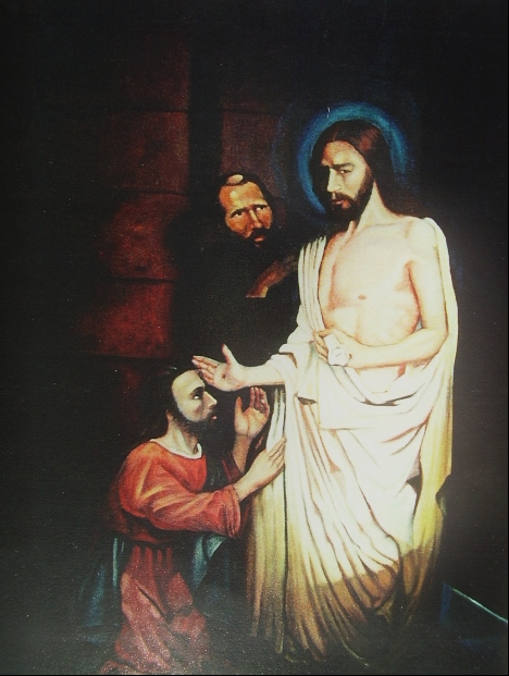 """Christ and Thomas"" Oil 2000- John 20 24:29"