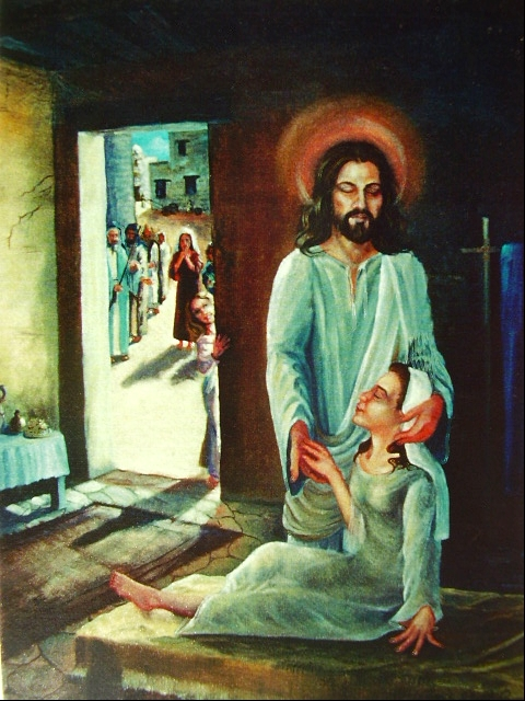 """Christ heals Jarus's daughter""  Oil 200- Matthew 9 18: 26"