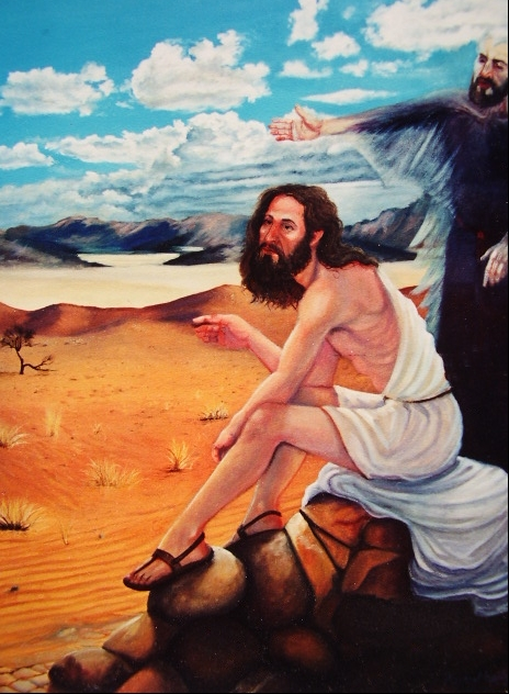 """Temptation of christ in the desert"" Oil 2000-  Matthew 4 1:11"